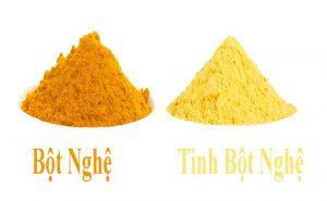 so sánh điểm khác biệt của bột nghệ và tinh bột nghệ