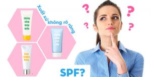Kem chống nắng có chỉ số SPF < 30