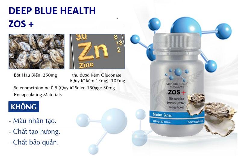 Viên uống tăng cường sinh lý từ hàu biển Deep Blue Health Zos+ từ New Zealand